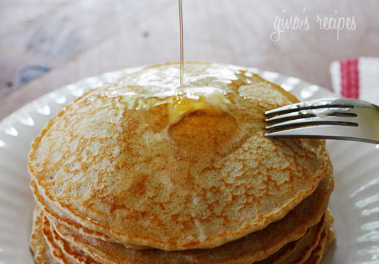 Healthy, low-fat, whole wheat pancakes that are light and fluffy!