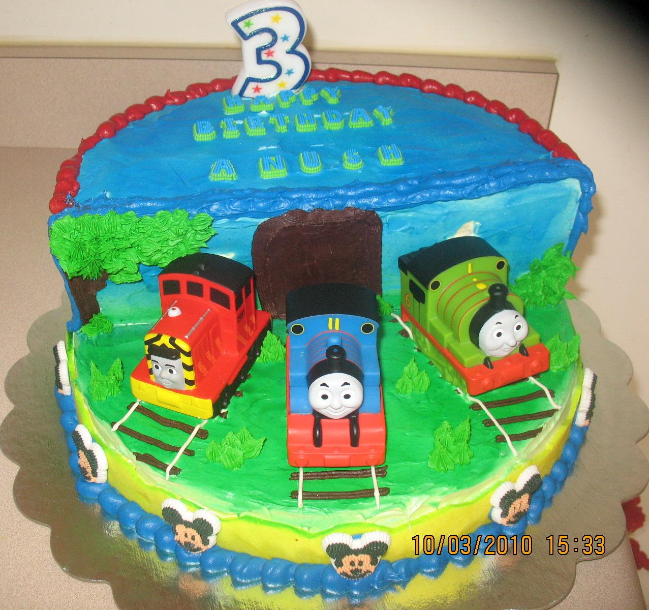 Anu Cakes N Bakes Anush S 3rd Birthday Cake Thomas And