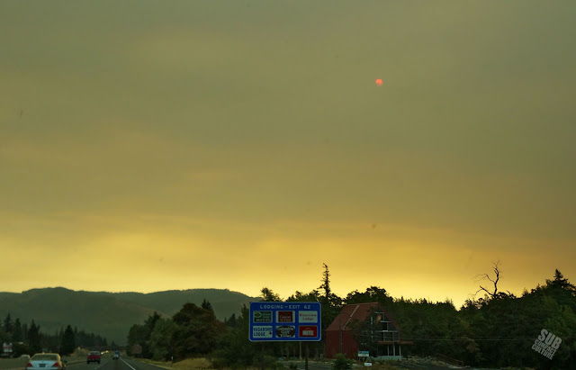 Smoke in the Columbia River Gorge from wildfires
