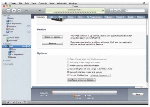 How To Activate The iPad and Sync it Using iTunes