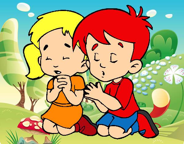 Imagenes de niños rezando en caricatura - Imagui