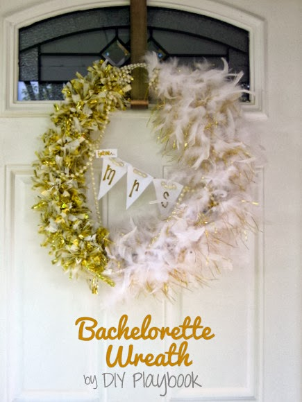 How to make a bachelorette party wreath