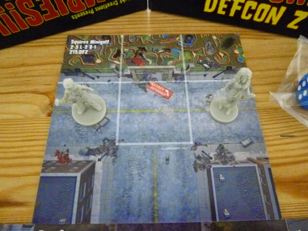 Squires Minigolf course in the new Zombies!!! board game - Zombies!!! 13: DEFCON Z