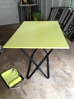 painted work table - garage sale finds - thediybungalow.com