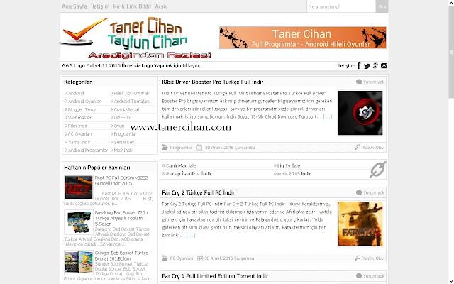 tanercihan.com Blogger Teması