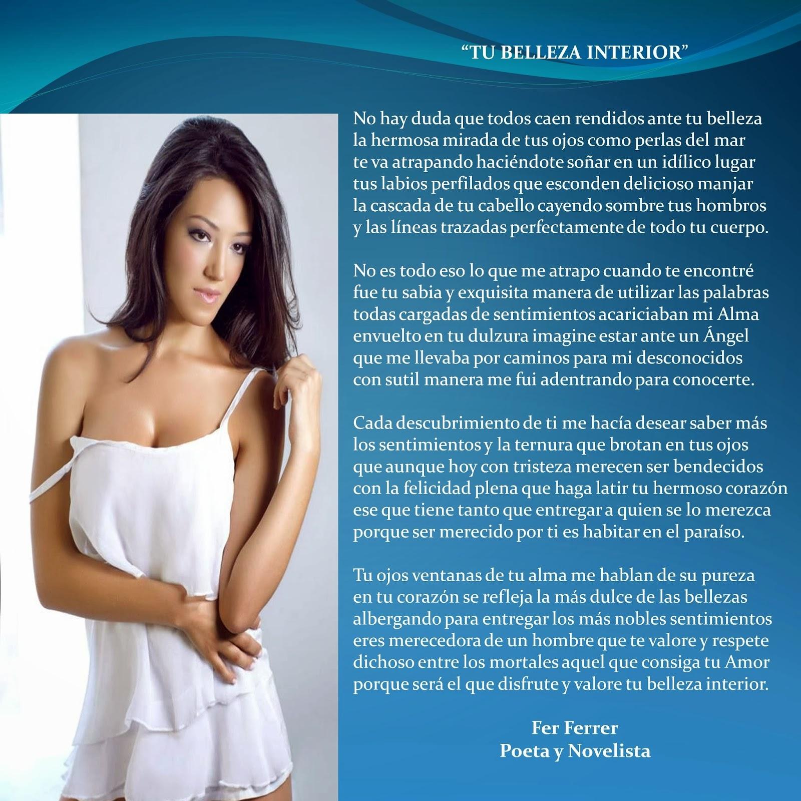 Fer Ferrer Poeta Y Novelista TU BELLEZA INTERIOR