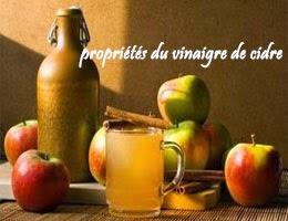 propriétés du vinaigre de cidre de pomme