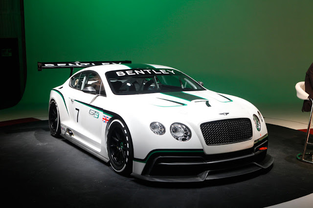 Bentley Continental GT3 At 2012 L.A. Auto Show . the Bentley Continental GT3 Racer was launched at 2012 Paris Motor Show couple of months ago