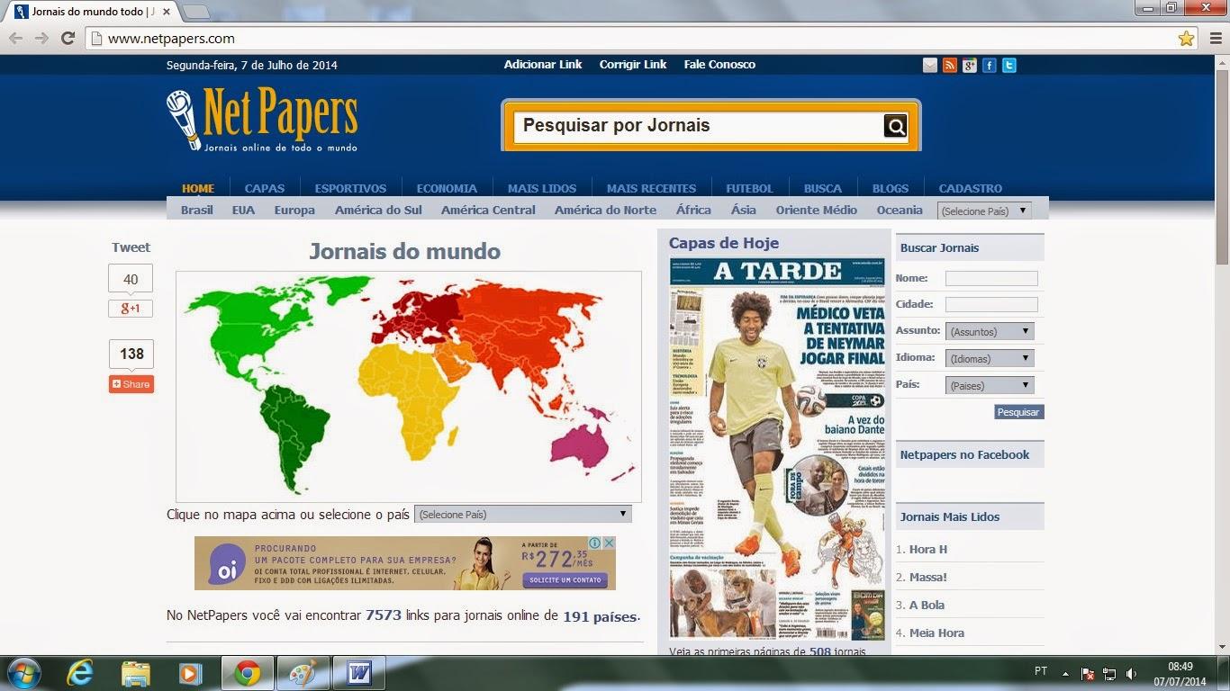 NetPapers : jornais online de todo o mundo
