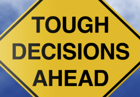 Tough Decisions Ahead- self improvement