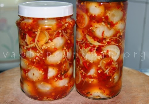 Cách muối cà pháo chua ngọt cay cay cực ngon 3