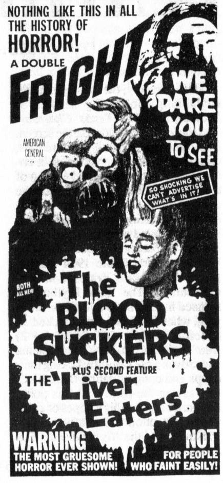 Old Horror Movie Newspaper Ads Vintage Everyday