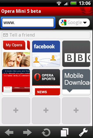 Aplikasi Browser Android Opera Mini