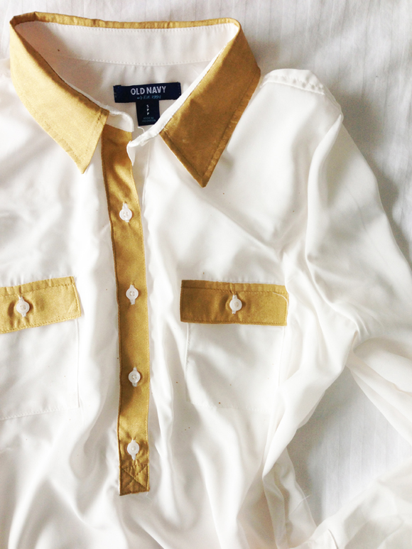 White And Gold Blouse 59
