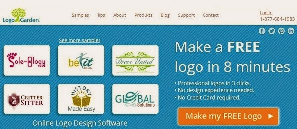 Logo Garden lets you make free logo maker