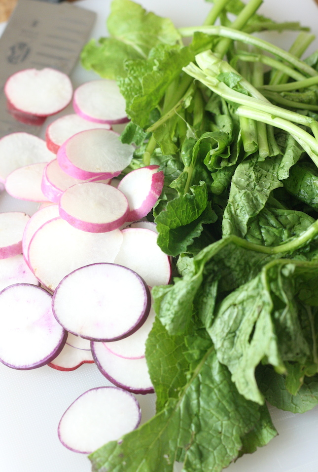 recipe with radish and radish greens