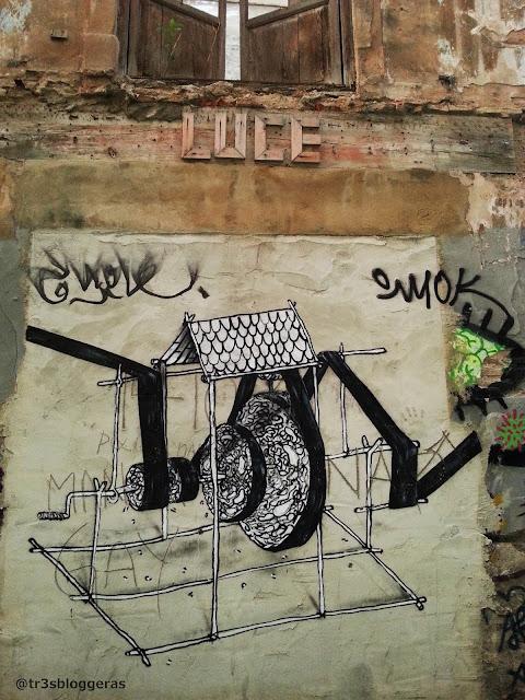 Street Art, Arte Urbano LUCE Valencia Madera
