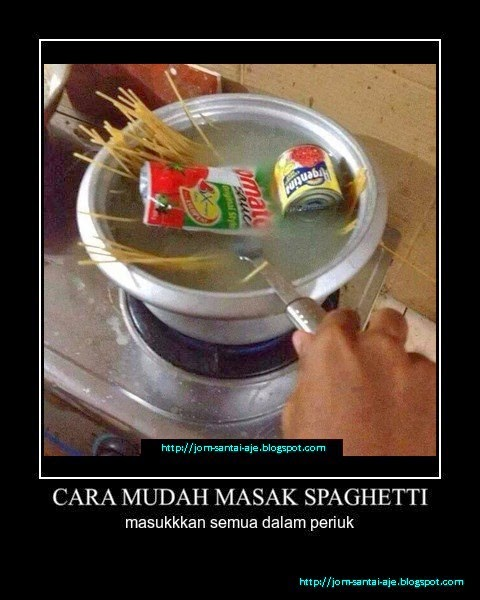 CARA MUDAH MASAK SPAGHETTI