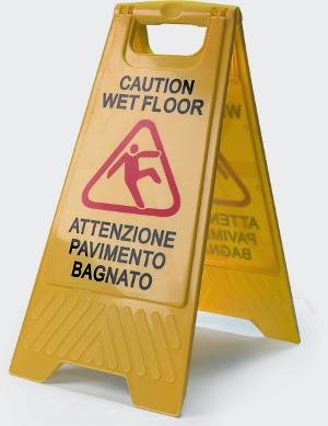 Ferrofil news cartello segnalazione pavimento bagnato - Cartello pavimento bagnato ...