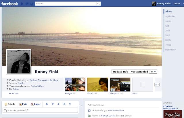 Nuevo perfil timeline de facebook
