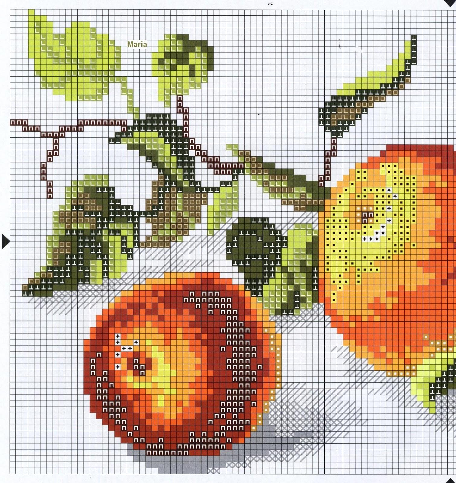 Вышивка схема яблок 26
