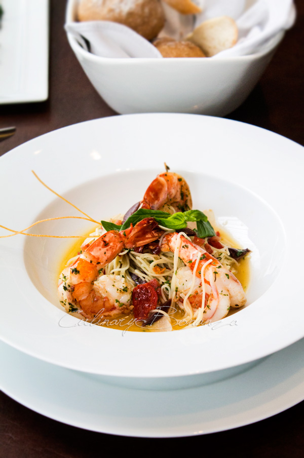 Grilled King Prawn Aglio Olio Angel Hair Pasta IDR 185,000