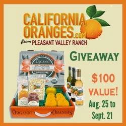 http://thegreengrandma.blogspot.com/2014/08/california-oranges-giveaway.html