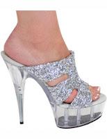 Silver Stiletto Heels