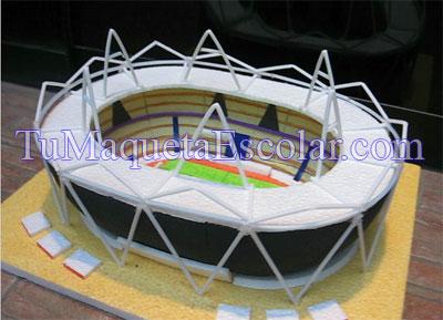 como hacer maqueta de estadio de futbol