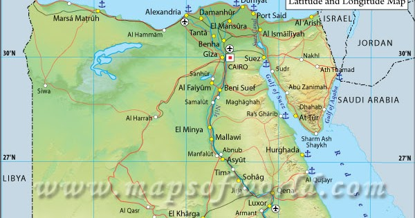Nile River Valley Project Egypt Latitude And Longitude - Map of egypt latitude and longitude