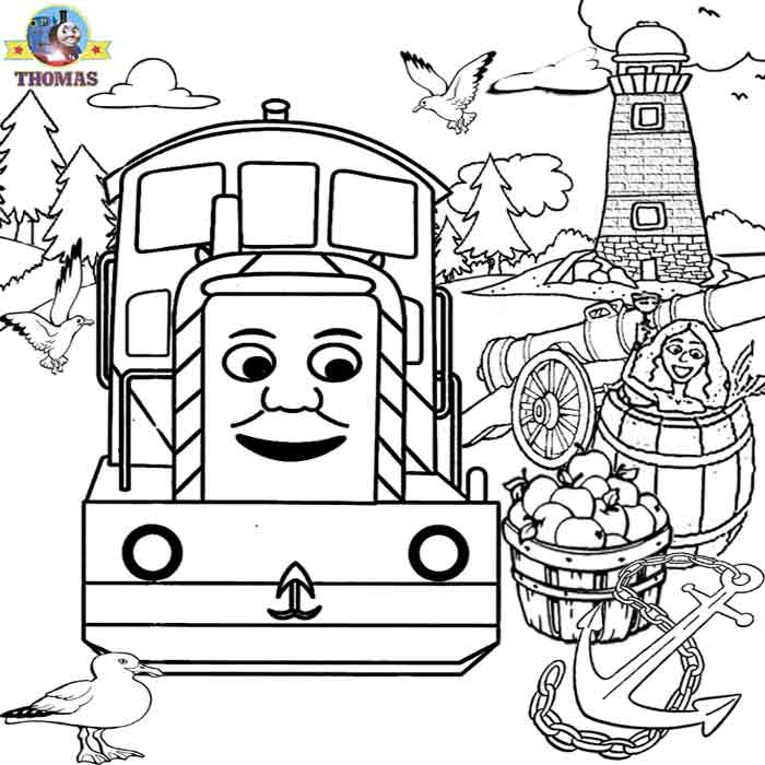 December 2009 train thomas the tank engine friends free for Thomas the train christmas coloring pages