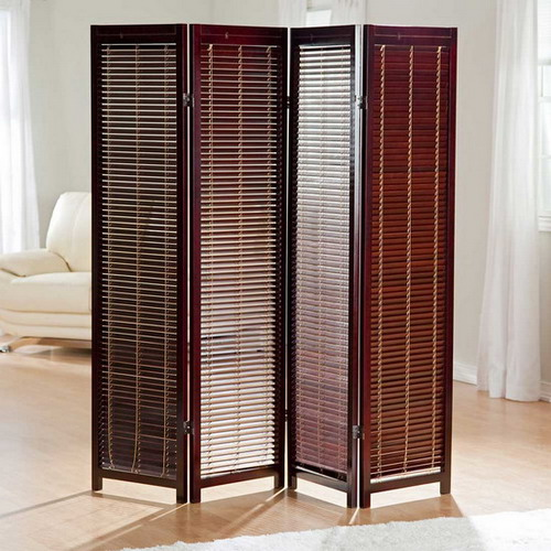 Some cheap room dividers for adding beauty to your for Four panel room divider screen