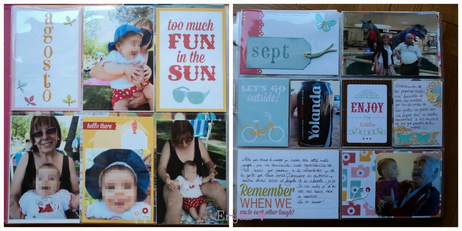 páginas project life agosto y septiembre