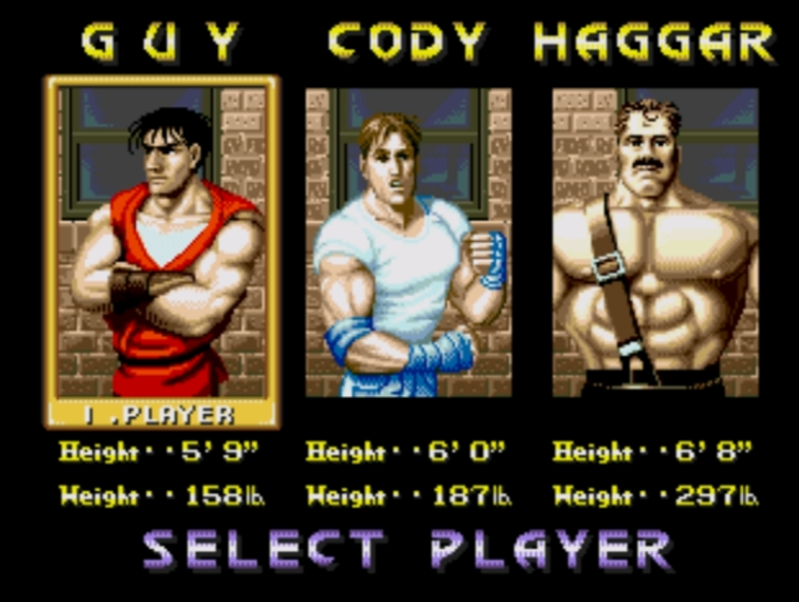 [Review] FINAL FIGHT - Tragetória Final-Fight-CD-Player-Select