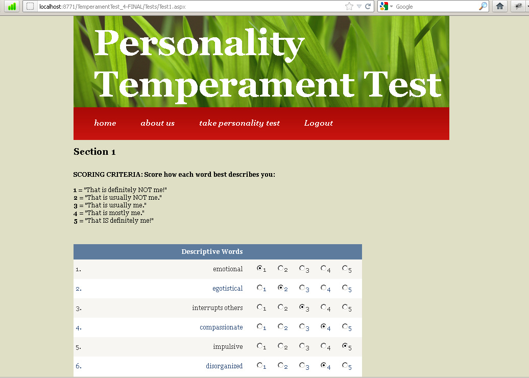 4 temperaments personality test pdf