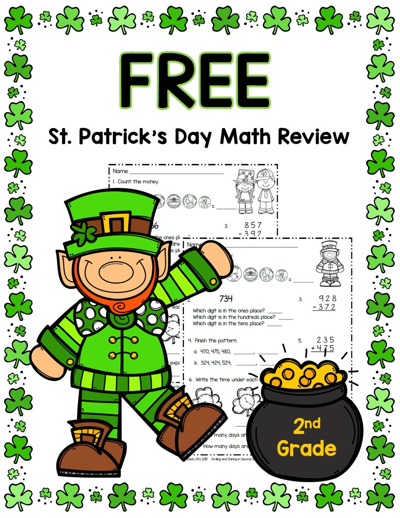 Smiling and Shining in Second Grade: St. Patrick\'s Day Math and More