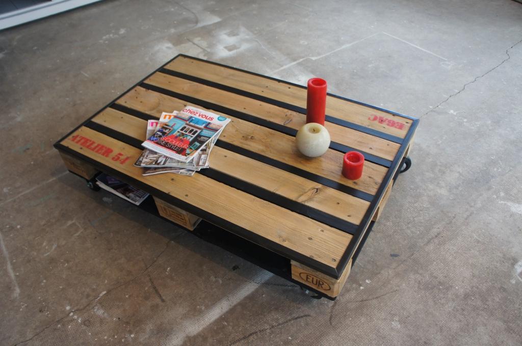Un style industriel petit prix astuces - Comment transformer une palette en table basse ...