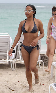 Christina Milian – wearing a bikini at a beach in Miami