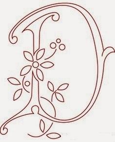 D flower calligraphy monogram tattoo stencils