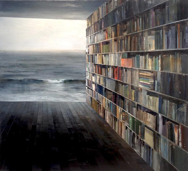 Artista examina nuestras mentes a través del mezclado de interiores y paisajes