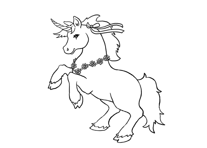 Free Education Coloring Sheet Of Unicorn