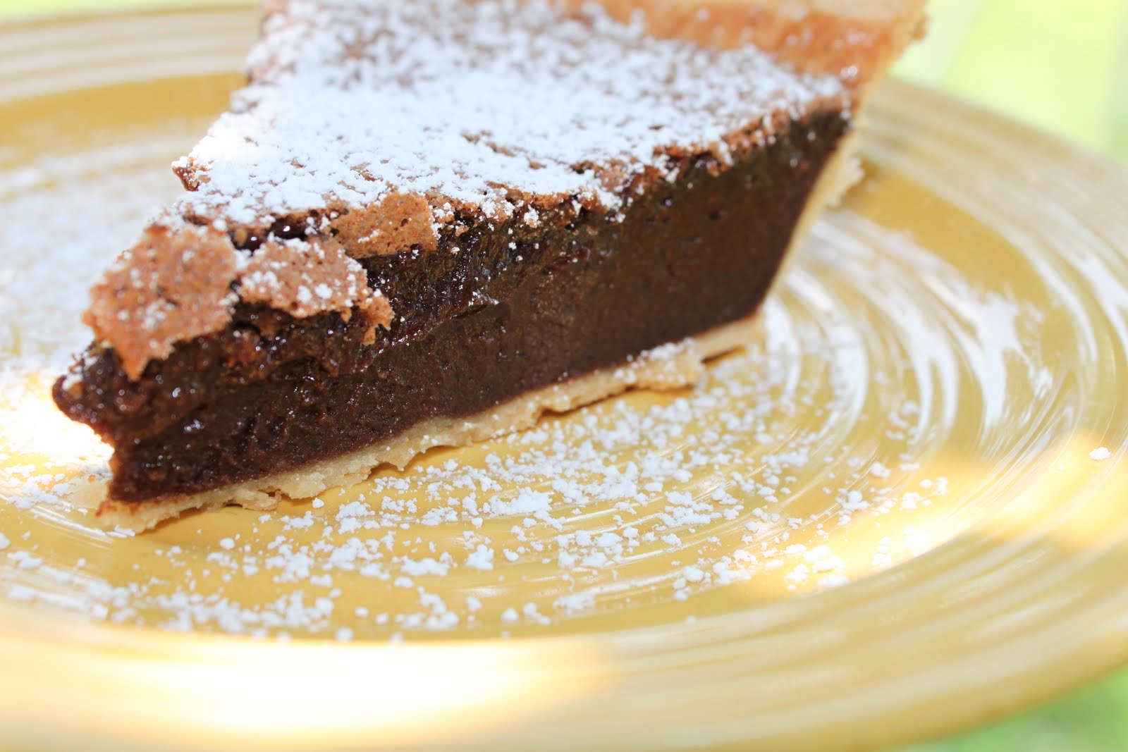 ... first experience with the Chocolate Chess Pie but it won't be my last
