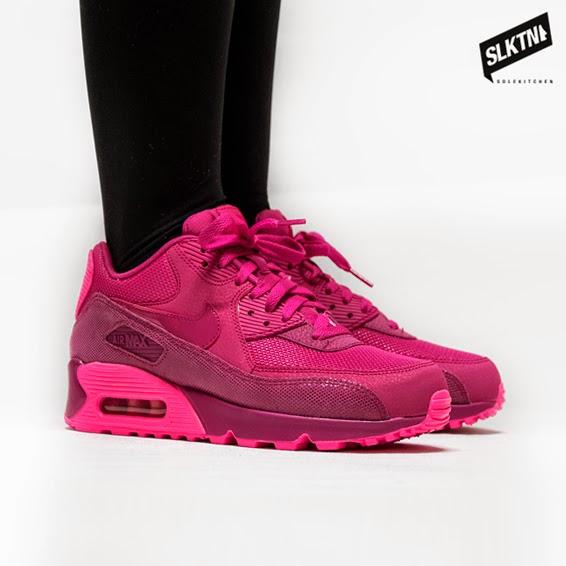 nike air max 90 premium fireberry pink pow 40th