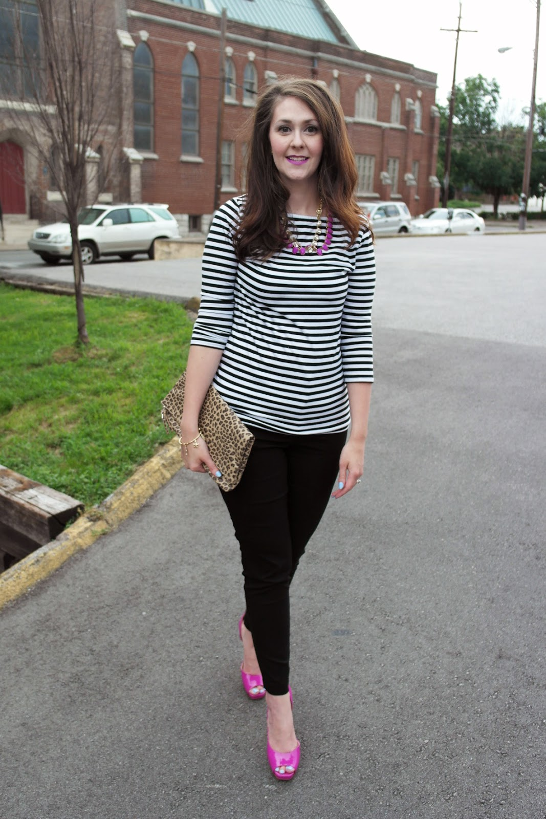 Bright on a Budget: Wardrobe Re-Wear : Basic Striped Tee