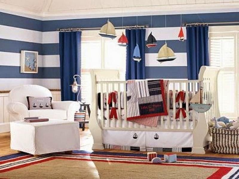 Photos chambre bébé garçon bleu et blanc