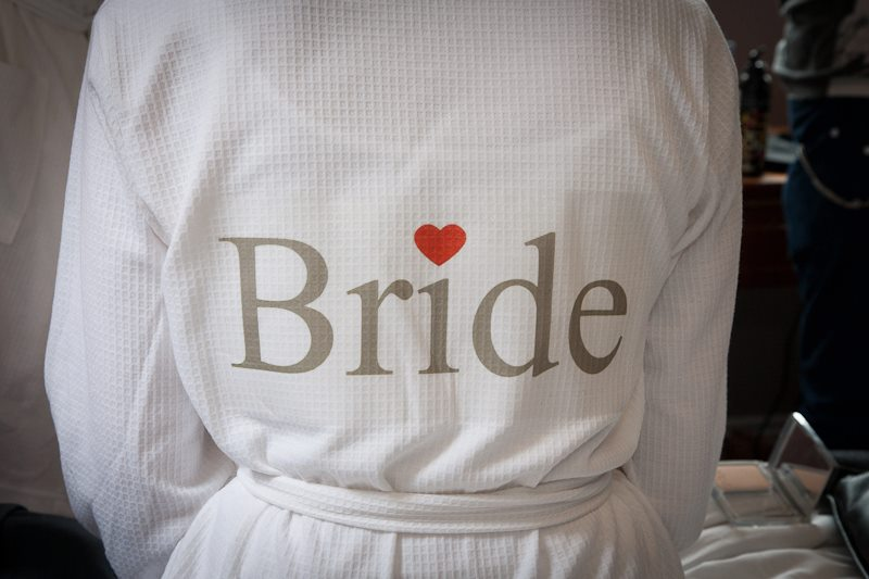 Wedding bride bridal party personalised dressing gown
