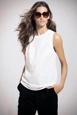 catálogo SuiteBlanco primavera verano 2014 pantalón negro top blanco