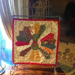 Jan's latest Tutorial - How to Applique a Dresden Turkey