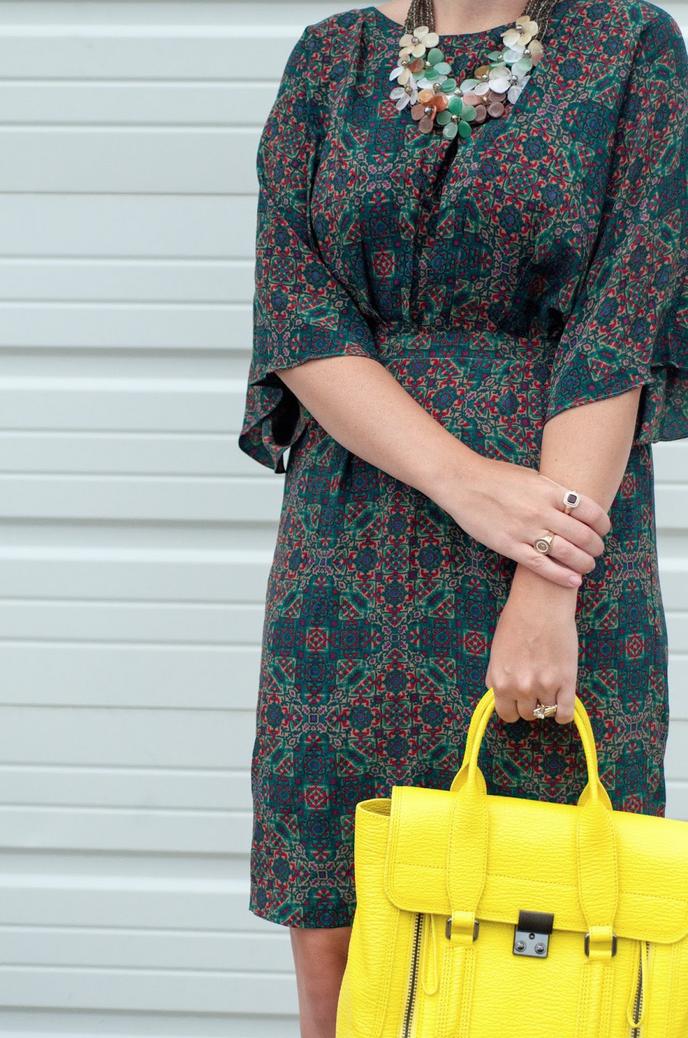 ootd, anthropologie ootd, floral necklace, style blog, fashion blogger, phillip lim pashli satchel
