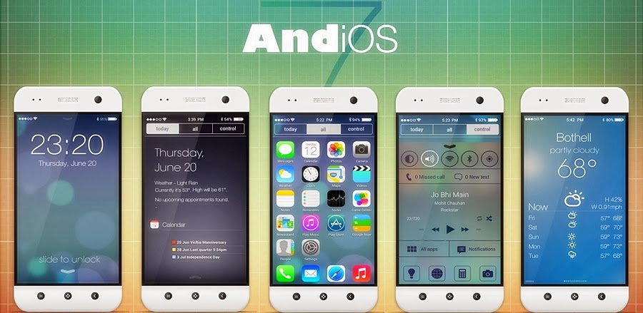 Android Apps to turn Android Phone into IPhone
